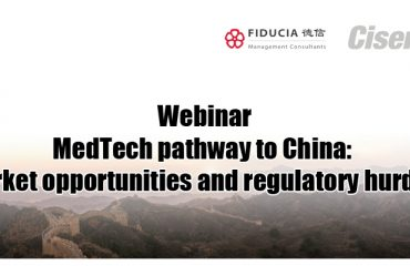 Webinar: MedTech pathway to China: Market opportunities and regulatory hurdles